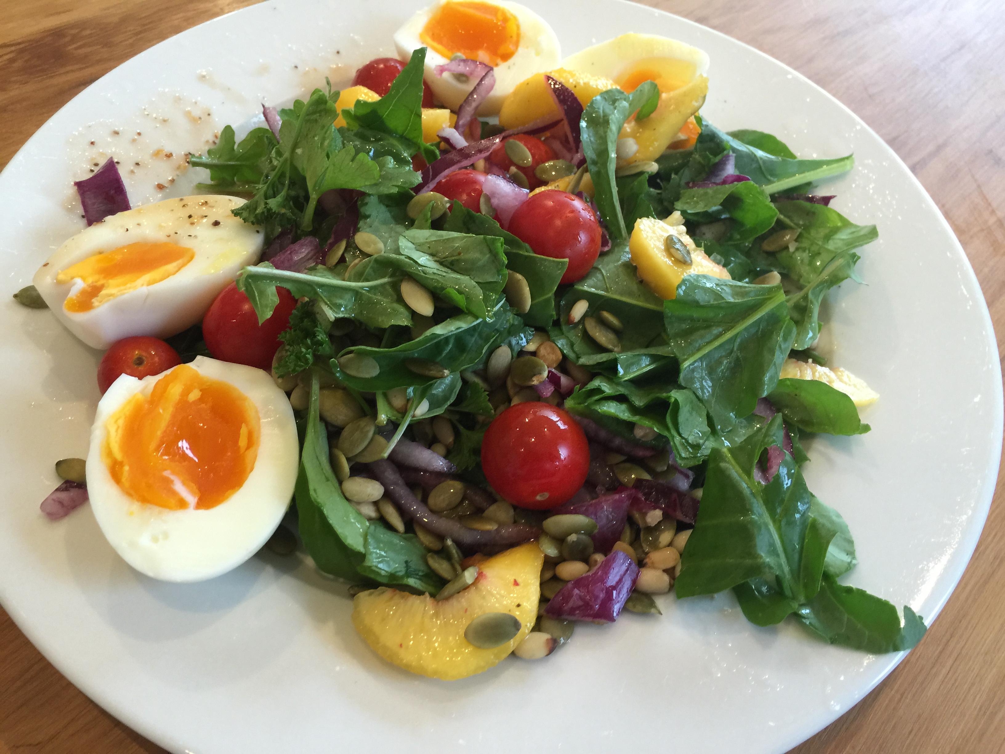 seed salad on plate