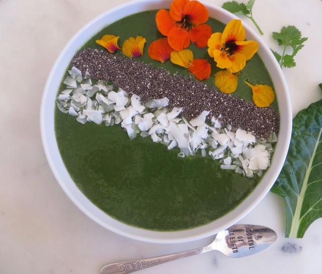 green macha smoothie