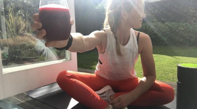 Wellington marathon drink pic